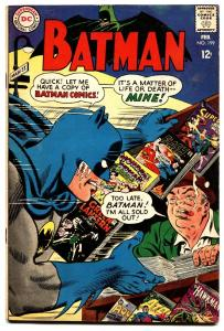 Batman #199 comic book 1968- Newstand / DC Comic line cover- Silver Age