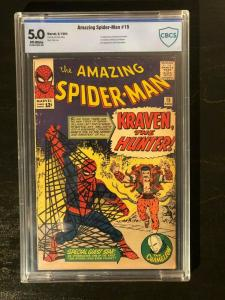 Amazing Spider-Man #15 CBCS 5.0, 1st Kraven the Hunter, 1st Mention of Mary Jane