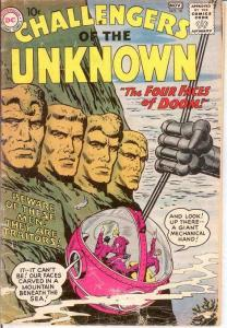 CHALLENGERS OF THE UNKNOWN 10 FAIR   November 1959 COMICS BOOK