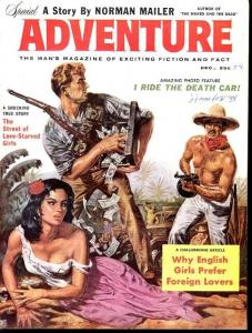 ADVENTURE 1958 DEC-TOMMY GUN CVR/MAILER FN