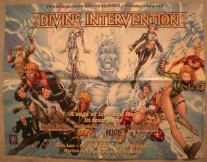 DIVINE INTERVENTION Promo poster, Jim Lee, 1999, Unused, more Promos in store
