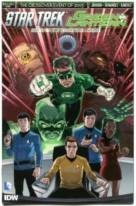 STAR TREK GREEN LANTERN #1 A, NM, Spock, Kirk, War, 2015, IDW, more in store