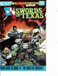 Lot Of 3 Swords of Texas Eclipse Comic Books #1 2 4  Batman WT20