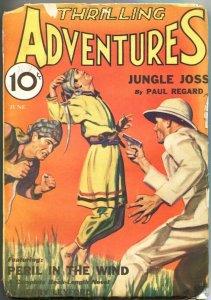 THRILLING ADVENTURES 1932 JUNE-WEIRD MENACE-JUNGLE-BONDAGE-ORIENTAL-PULP