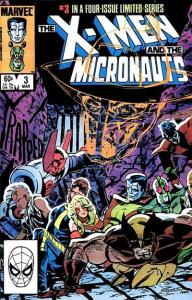 X-Men and the Micronauts #3, VF+ (Stock photo)