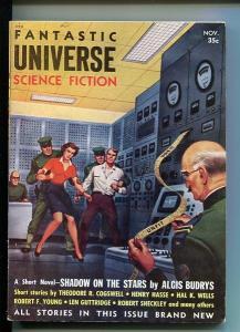 FANTASTIC UNIVERSE SCIENCE FICTION-NOV-1954-ALEX SCHOMBURG COVER VF