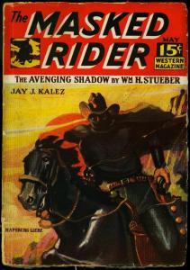 The Masked Rider Pulp #2 May 1934- Rare Western- Jay Kalez G+