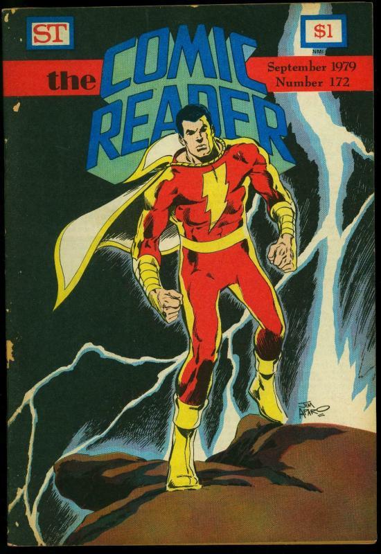 Comic Reader #172 1979- Fanzine- Captain Marvel cover G