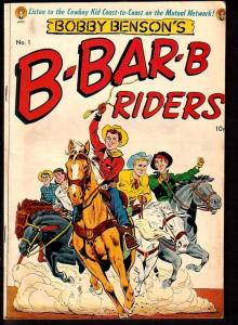 BOBBY BENSON'S B-BAR-B RIDERS #1-ME COMICS-POWELL ART FN