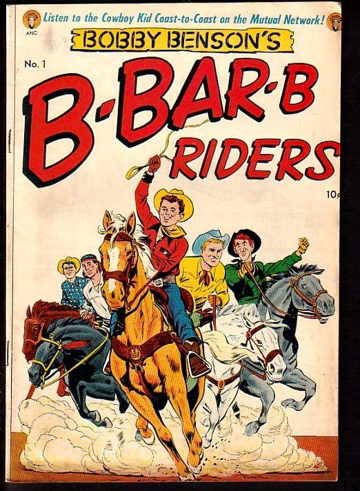 BOBBY BENSON'S B-BAR-B RIDERS #1-ME COMICS-POWELL ART FN