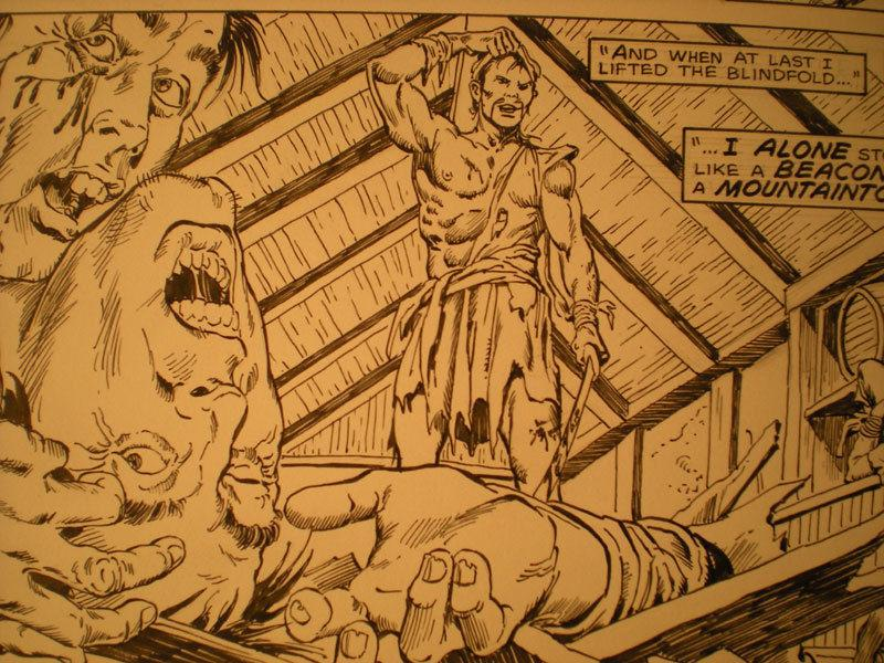 ERNIE CHAN Published Original Art SAVAGE SWORD of CONAN #132, pg #31,Sword fight