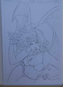 NEI RUFFINO original art, Cover of PURGATORI #1, Signed, 2014, 11x17, Beautiful