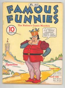 FAMOUS FUNNIES #50 - HISTORIC SUPERHERO PHANTOM MAGICIAN .1937, NICE - VERY VG++