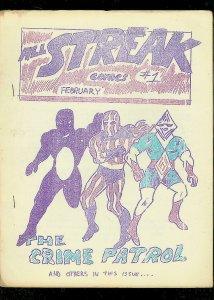 ALL STREAK FANZINE #1-CRIME PATROL-COSMOS-ORIGINAL-1964 VG/FN
