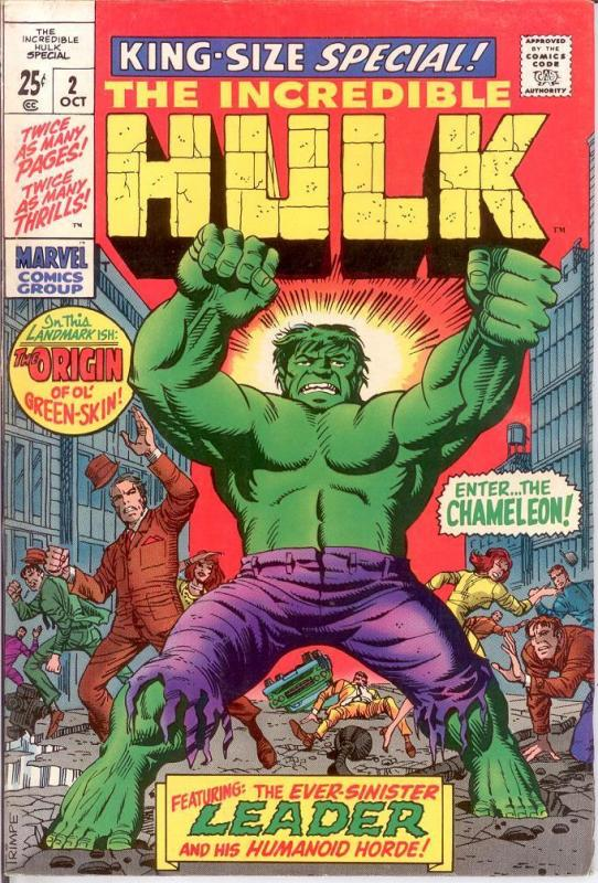 HULK ANN  2 VG-F KIRBY/DITKO ORIGIN REPRINT COMICS BOOK