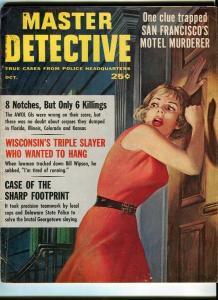 MASTER DETECTIVE-OCT/1961-TRIPLE SLAYINGS-MOTEL MURDERER-CAR MANIAC G/VG