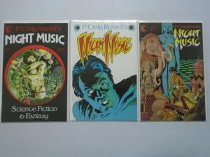 Night Music run #1-3 8.0 VF (1984 2nd Series)