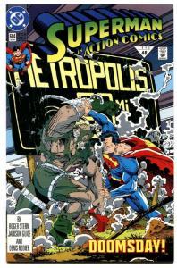 ACTION COMICS #684-DOOMSDAY COVER-DC comic book