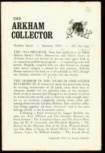 ARKHAM COLLECTOR #7 1970-H.P. LOVECRAFT/SEABURY QUINN VG