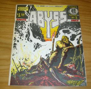 Abyss #1 VF- steve bissette - underground comix - johnston state college VT 1976