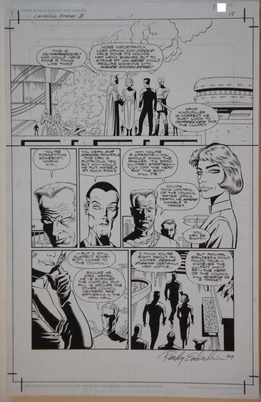 PAUL GULACY / RANDY EMBERLIN original art, STAR WARS CRIMSON EMPIRE II #1 pg 15