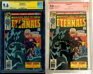 The Eternals #1 1976 CGC SS 9.6 Signed by Stan Lee! & CBCS 7.0 VS by Jack Kirby!