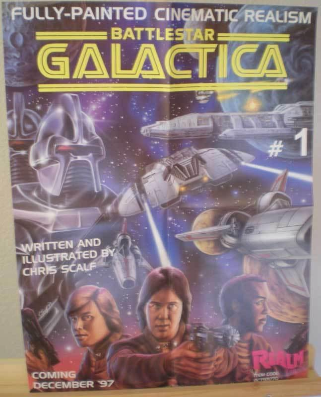 BATTLESTAR GALACTICA Promo poster, Realm, 1997, Unused, more in our store