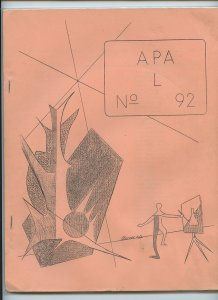 APA-L #92 – Fanzine from the Los Angeles Science Fantasy Society (July, 1966)