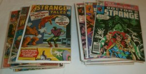 Strange Tales V1 #124,134,142,143 + Doctor Strange V2 #5,8+ comic book lot of 38