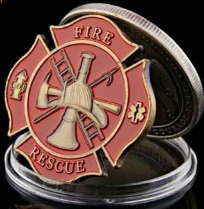 U.s. military first responder challenge coins