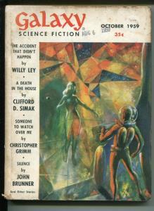 Galaxy 10/1959-Wally Wood cover-Grey Morrow art-sci-fi pulp-G