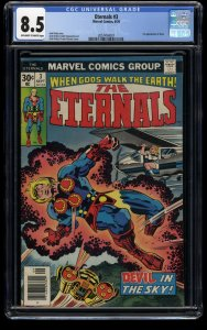Eternals #3 CGC VF+ 8.5 Off White to White 1st Sersi!