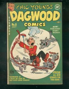 CHIC YOUNG'S DAGWOOD COMICS #8 1951-POPEYE-KATZENJAMMER FN