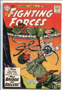 OUR FIGHTING FORCES #56-1959-DC-SILVER AGE-FROGMAN-GUNNER & SARGE-HEATH-vg