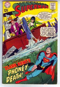 Superman #210 (Oct-68) FN Mid-Grade Superman, Jimmy Olsen,Lois Lane, Lana Lan...
