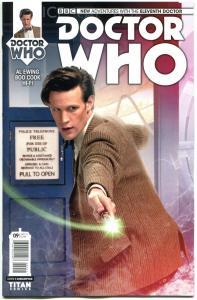 DOCTOR WHO #9 B, NM, 11th, Tardis, 2014, Titan, 1st, more DW in store, Sci-fi
