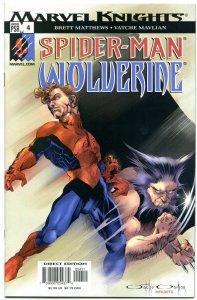 SPIDER-MAN & WOLVERINE #4, NM+, X-Men, Claws, Webbing, 2003, more ASM in sto