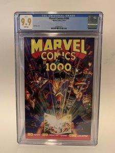 Marvel Comics 1000 Cgc 9.9 Not 9.8 Alex Ross Cover Eternity Mask Returns