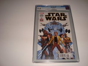 STAR WARS # 1 (2015) CGC 9.8 WITH DF CERTIFICATE OF AUTHENTICITY