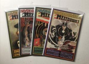Havok And Wolverine Meltdown 1-4 1 2 3 4 Lot Run Set Near Mint Nm Epic Comics