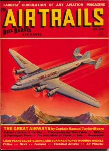 Air Trails 10/1937-Bill Barnes-hero pulp-George L Eaton-VG/FN