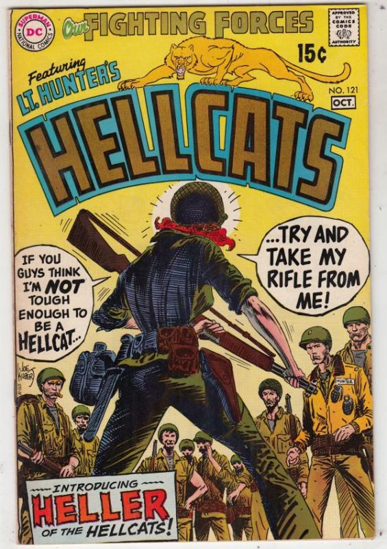 Our Fighting Forces #121 (Oct-69) VF High-Grade Lt. Hunter's Hellcats
