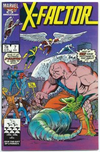 X-FACTOR #7, NM, Rubenstein, Guice, Fall Out, 1986, Marvel, more in store