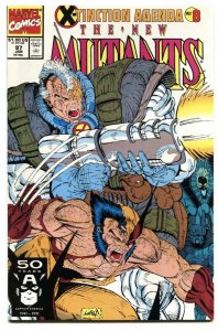 THE NEW MUTANTS #97-1991-ROB LIEFELD-WOLVERINE-CABLE NM-