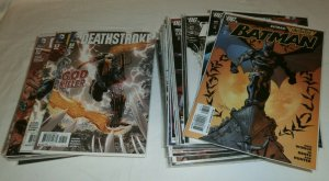 Batman V1 #687-690,704-713 (no 707) Deathstroke V2 Tony Daniel comics lot of 41