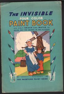 Invisible Four Color Paint Book #661 1936-paint with water only-unused-VG
