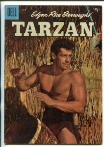 TARZAN #81-1956-DELL-GORDON SCOTT COVER- BURROUGHS- MARSH- MANNING-fn