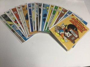 Walt Disney's Mickey Mouse 219-244 246 248-250 252 253 Nm- Gladstone