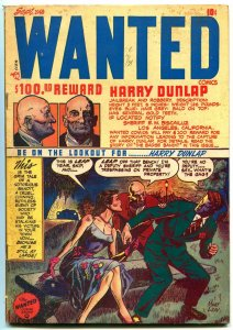 Wanted #15 1948- Golden Age Precode Crime- vg/f