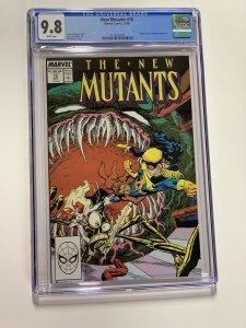 New Mutants 70 Cgc 9.8 White Pages Marvel X-men Copper Age